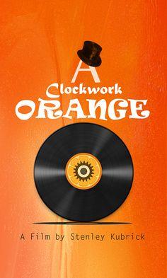 A Clockwork Orange (1971) ~ Minimal Movie Poster by Gokhan Karahaner #amusementphile