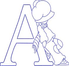 Sunbonnet Alphabet - Machine Embroidery Designs