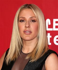 Ellie Goulding Long Straight Formal Bob Hairstyle Light Platinum Blonde Hair Co. Face Shape Hairstyles, Bandana Hairstyles, Bob Hairstyles, Straight Hairstyles, Haircuts, Natural Dark Blonde, Light Blonde, Oval Face Shapes, Oval Faces