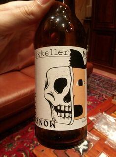 Mikkeller Monk's Brew. Brown beer brewed in Lochristi.