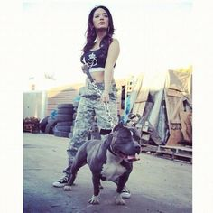 Love what she's wearing<3 Gorgeous pitbull!