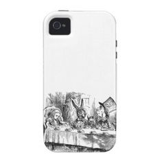 Vintage Alice in Wonderland Mad Hatter & rabbit tea party antique goth emo book drawing iPhone 4S case cover #aliceinwonderland #iphone4s #iphone4scase #aliceinwonderlandiphone