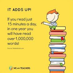 If you read just 15 minutes a day... it adds up!