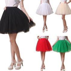 Women Adult Tutu Mini Skirt Tulle Petticoat Party Princess Fancy Dress Dancewear in Clothes, Shoes & Accessories, Women's Clothing, Skirts | eBay