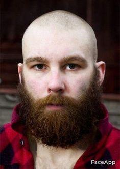 Bald Men With Beards, Bald With Beard, Hairy Men, Bearded Men, Shaved Head With Beard, Red Hair Men, Male Pattern Baldness, Sexy Beard, Beard Styles For Men