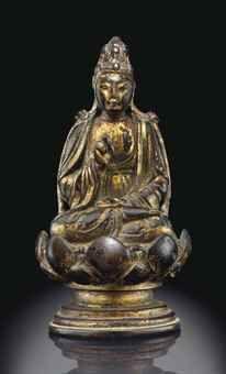 遼   銅鎏金小佛坐像