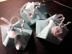 HANDMADE FAVOR BOXES FOR BAPTISM WITH Quilling