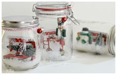 Diy gift card snow globes gifts diy snow globe, diy gifts in Pot Mason Diy, Mason Jars, Mason Jar Gifts, Diy Gifts In A Jar, Diy Xmas Gifts, Easy Diy Gifts, Diy Snow Globe, Snow Globes, Holiday Crafts For Kids