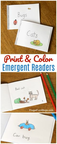 Free Printable Books for Beginning Readers – Level 1 (Easy) – Frugal Fun For Boys and Girls