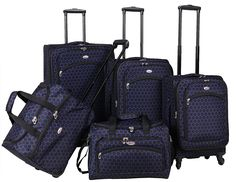 American Flyer Favo 5-Piece Spinner Luggage Set >>> Read more reviews of the product by visiting the link on the image.