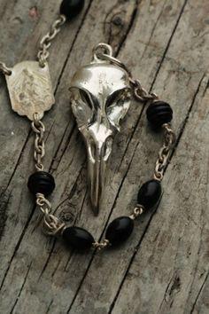 Awesome bird skull rosary