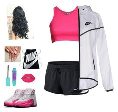 """How to wear the Jordan 12s"" by guap-goddess on Polyvore featuring NIKE, Pilot and Lime Crime"