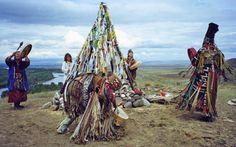 Kamlanie in Tuwa, Schamanenzeremonie zur Errichtung eines neues Opferplatzes, 2007. Foto: V. Charitonova