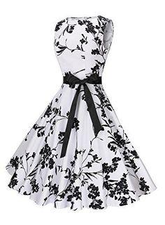 Women's Classy Swing Dress Audrey Hepburn 1950s Vintage Rockabilly Dress