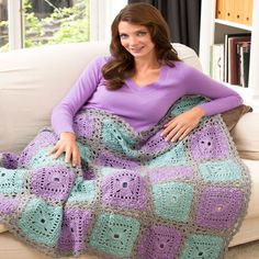 Lacy Squares Throw