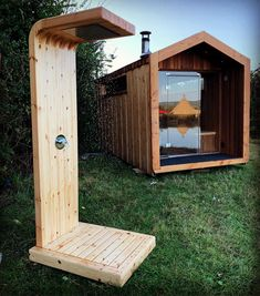 Sauna House, Tiny House Cabin, Tiny House Design, Tiny Cabins, Design Sauna, Design Design, Outdoor Sauna, Outdoor Bathrooms, Outdoor Showers