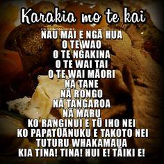 Kai Karakia A traditional blessing for food.  For more Māori resources, visit www.maorime.com