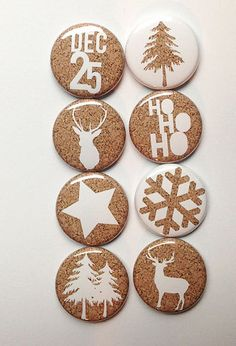 Cork Christmas Flair by aflairforbuttons on Etsy