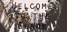 "The Maze Runner pic ""Welcome to the glade""  TMR 4ever"