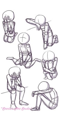Sitting Sad Poses: Here is a quick reference page for sad sitting poses. This pi. - Sitting Sad Poses: Here is a quick reference page for sad sitting poses. This pin can be used as a - Sad Drawings, Art Drawings Sketches, Cartoon Drawings, Pencil Drawings, Drawings Of People Easy, Drawing People Faces, Drawing Cartoon Characters, Sketch Art, Animal Drawings