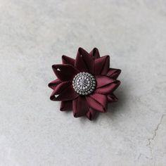 Mens Lapel Flower Pin Burgundy Lapel Flower Lapel Pin for Men...