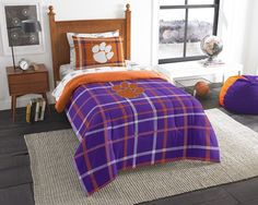 Clemson Tigers Twin Bed-in-a-Bag with Sheets. Visit SportsFansPlus.com for a Discount Coupon.