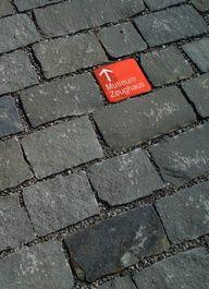 In-street signage, Canton of Solothurn, Switzerland by Basig of Zürich. In-street signage, Web Banner Design, Web Design, Street Marketing, Guerilla Marketing, Environmental Graphic Design, Environmental Graphics, Design Visual, Wayfinding Signs, Directional Signage