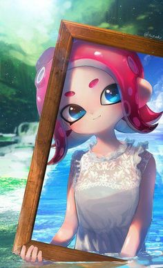 Splatoon - Picture Frame by Nintendo Splatoon, Splatoon 2 Art, Splatoon Comics, Marina Splatoon, Manga Anime, Anime Art, Lolis Neko, Pokemon, Estilo Anime