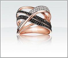 Black & White Diamond Ring.