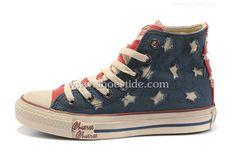 dcf0fe4c9283c0 Converse All Star Lovers Canvas shoes Blue red. This shoes features a  classic design with · Chuck Taylor ...