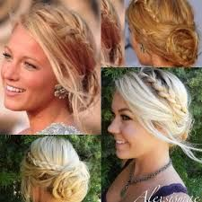 Image result for blake lively half up half down hair