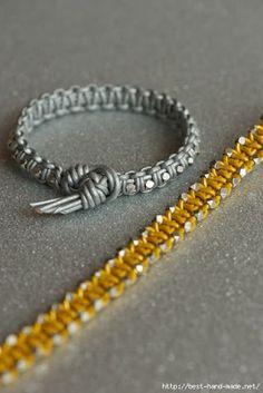 Cantinho craft da Nana: bracelete macrame 2