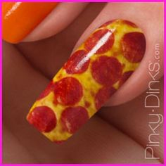 pepperoni pizza nail.  Not sure how I feel about this one...