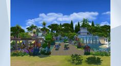 Check out this lot in The Sims 4 Gallery! - Tropical waterpark with multiple pools, waterslides and very high diving board.  #swimming #pool  #Tropical #Slides #diving #big #huge #fun #sea #sun