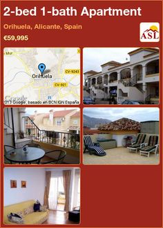2-bed 1-bath Apartment in Orihuela, Alicante, Spain ►€59,995 #PropertyForSaleInSpain
