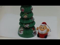 The Easiest Recycled Crafts for Kids: Santa's Christmas Tree out of Plas...