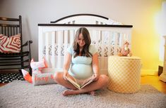 Take a picture of yourself before baby comes in the completed nursery