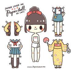 Little Miss Paint Brush Paper Doll