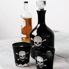 Fancy - Skull Crossbones Decanter