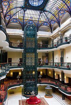 Gran Hotel Ciudad de México  Art Nouveau Architecture  16 de septiembre #82 col centro   Is right off the zocalo