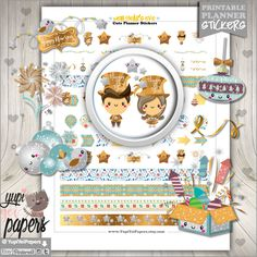 50%OFF - New Year's Eve Stickers, Planner Stickers, New Year Planner Stickers, Christmas Stickers, Planner Accessories
