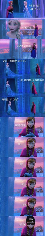 Arendelles in deep deep deep deep shit yo meme Disney Frozen parody funny LOL Imgur