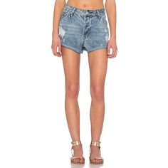 RES Denim Love Fool Short ($75) ❤ liked on Polyvore featuring shorts, jean shorts, cuffed jean shorts, distressed shorts, distressed denim shorts, distressed jean shorts and destroyed denim shorts