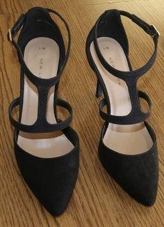 Kup mój przedmiot na #vintedpl http://www.vinted.pl/damskie-obuwie/na-wysokim-obcasie/15906460-pantofelki-czarne-paseczki-wzor-skory-weza-basic