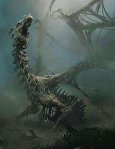 World of Dragons Fantasy Monster, Monster Art, Dark Fantasy Art, Fantasy Artwork, Dead Dragon, Dragon Artwork, Cool Dragons, Creature Concept Art, Vampire