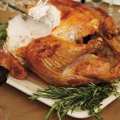 Roasted Turkey with Spiced Butter Turkey Sauce, Ricardo Recipe, Coriander Seeds, Roasted Turkey, Food And Drink, Butter, Diet, Chicken, Cooking