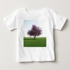 Sakura Cherry Tree in the Morning Baby T-Shirt - New Year's Eve happy new year designs party celebration Saint Sylvester's Day