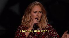 New party member! Tags: adele grammys the grammys 2017 grammys can you hear me