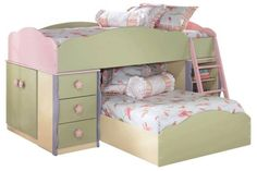 Distinguished Twin Loft Bed with Side Storage