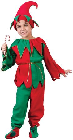 PartyBell.com - Complete #Elf Costume For Kids